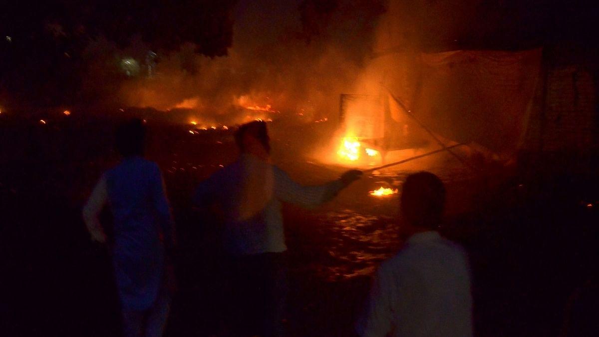 Huge fire breaks out in Vizag Pharma City