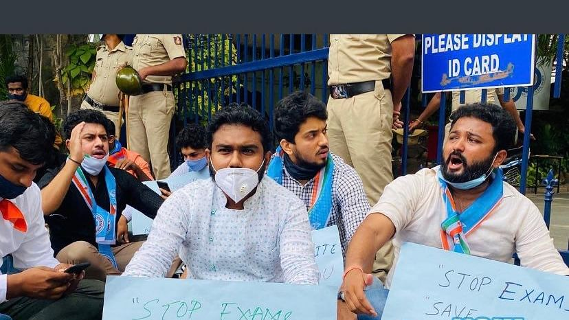 NSUI protests exams for Bengaluru varsity's students