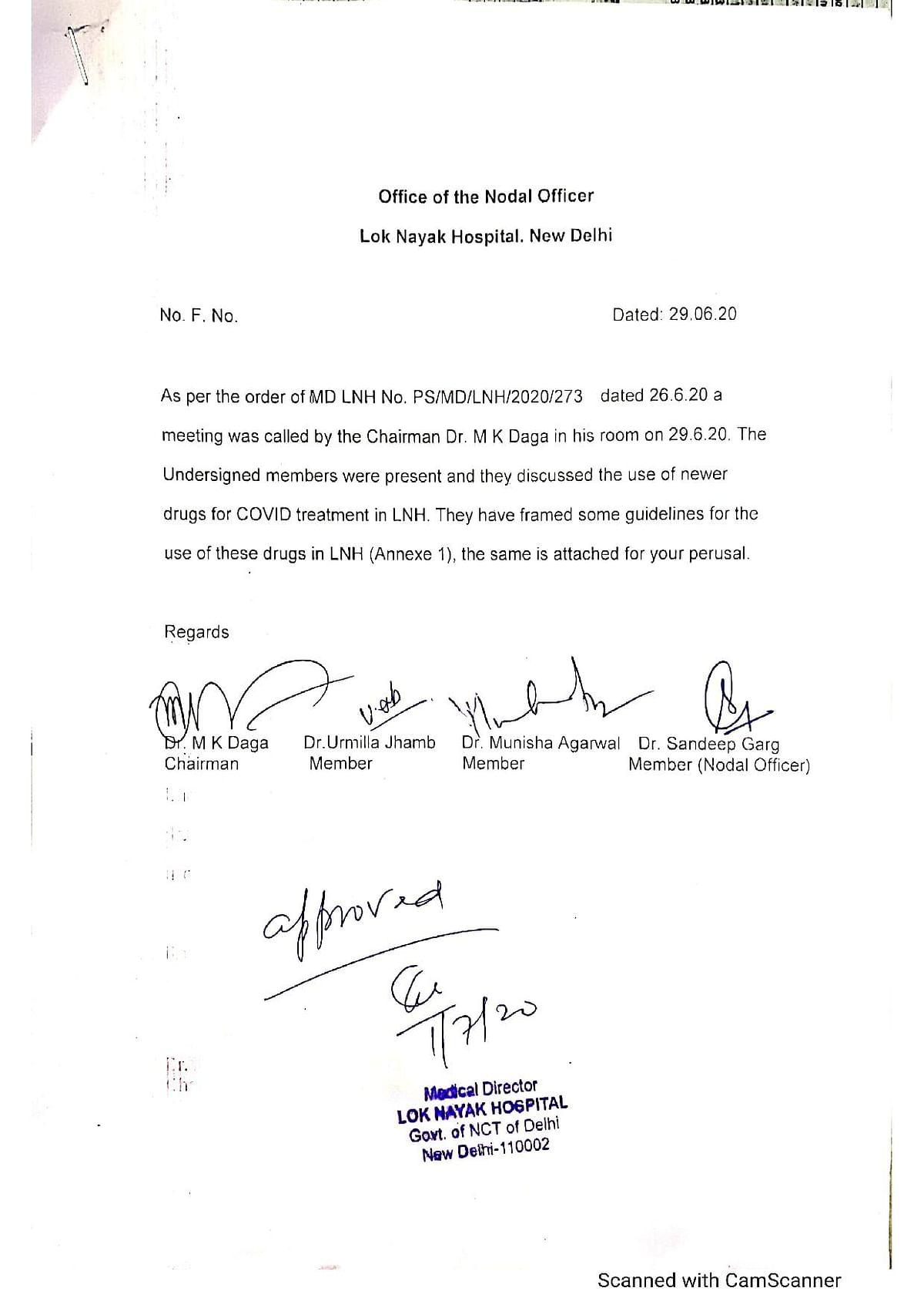Delhi's LN Hospital decides against using anti-viral drug Favipiravir for COVID-19 treatment