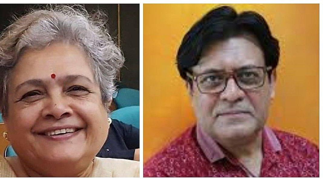 (Left )Mrinal Pande; (Right)Dr Jitendra Nagpal