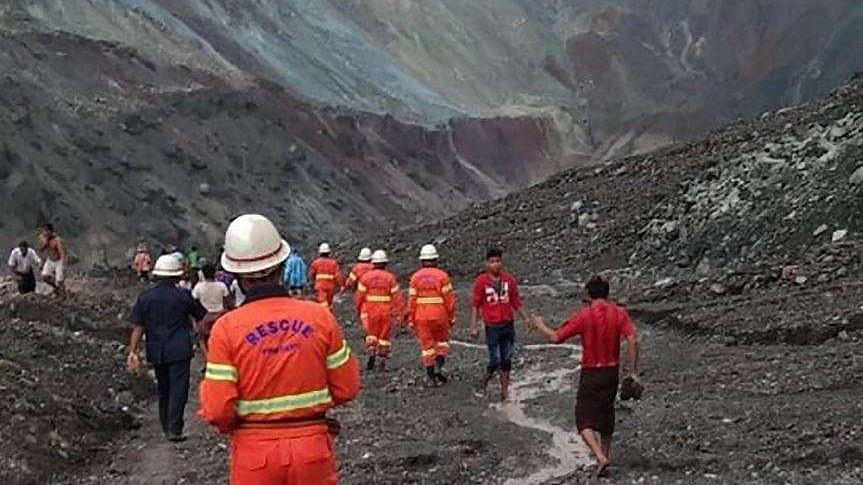 Myanmar jade mine landslide kills 113