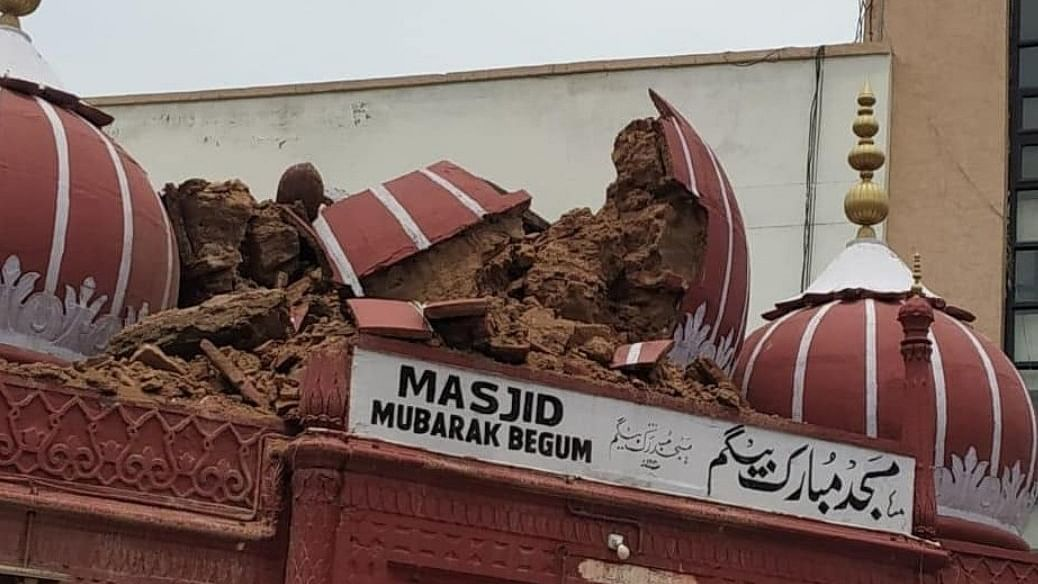 Mubarak Begum Ki Masjid: Heavy rains damage a rare mosque built by a woman