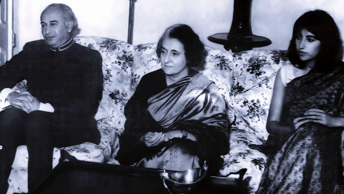 Zulfiqar Ali Bhutto, Indira Gandhi and Benazir Bhutto in Simla, 1972 (Photo courtesy- Twitter/@rachitseth)
