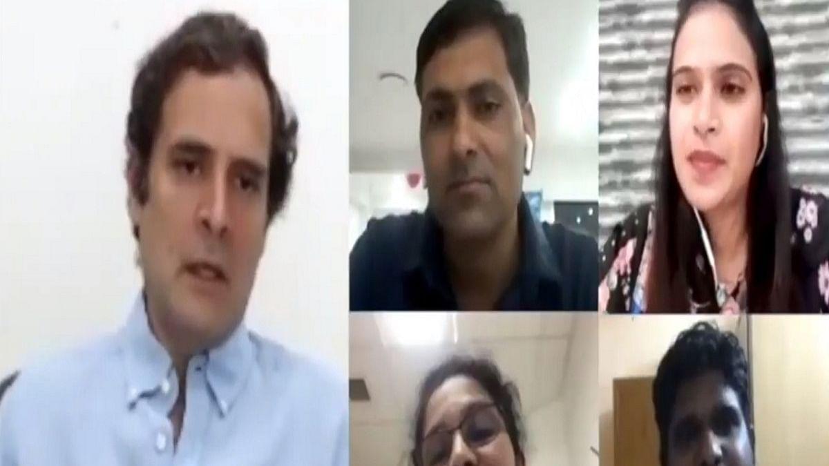 Rahul Gandhi assures nurses to raise compensation issue before govt