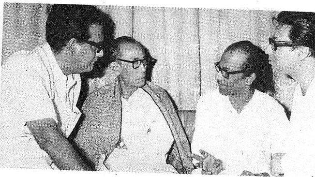 (From left) Hemant Kumar, SD Burman, Salil Chowdhury and RD Burman (Photo courtesy: social media)