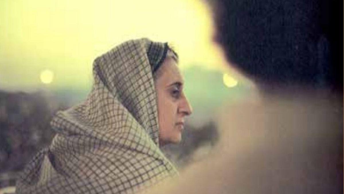 Indira Gandhi at a Public Function, 1976, New Delhi, India