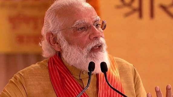 PM Modi chants 'Jai Siya Ram' in Ayodhya, performs Bhumi Pujan
