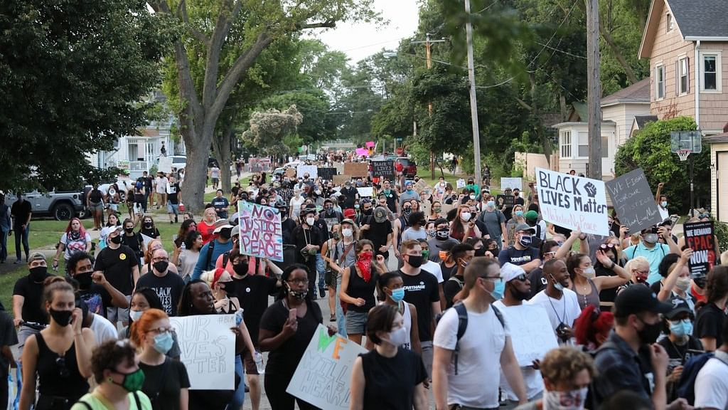 Thousands protest in Washington against police brutality, racism
