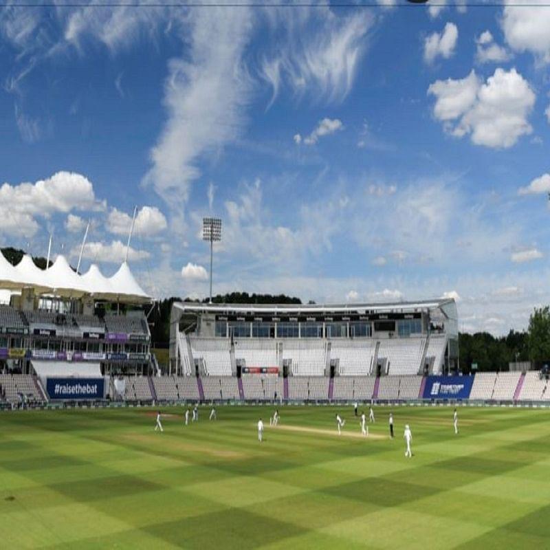 England-West Indies Test Match in England in an empty stadium