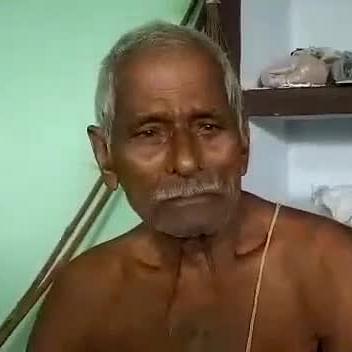 Baldutt Pandey, father of Hanuman Pandey, who was shot dead in an encounter in Lucknow on Sunday (Photo courtesy: Twitter)