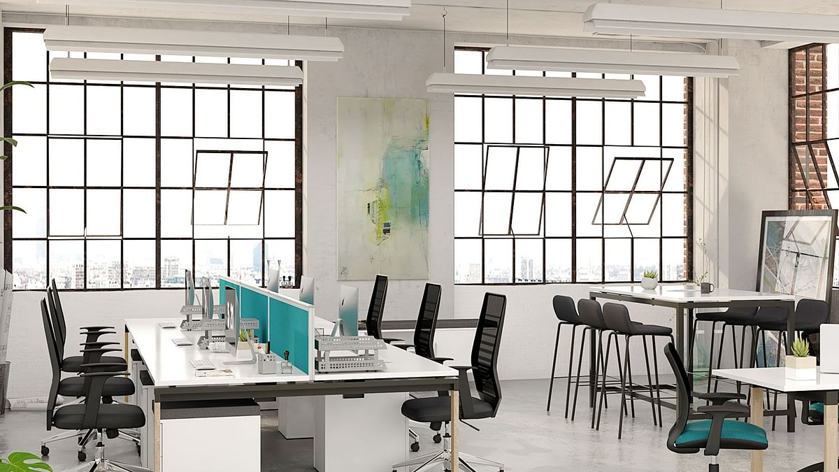 How does office design impact innovative thinking?