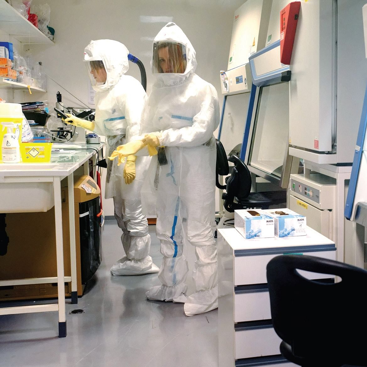 Researchers working on a COVID-19 vaccine