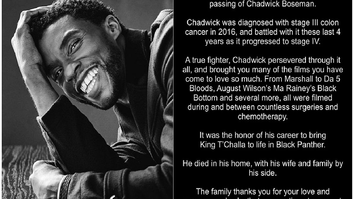 Chadwick Boseman's last post most liked tweet ever