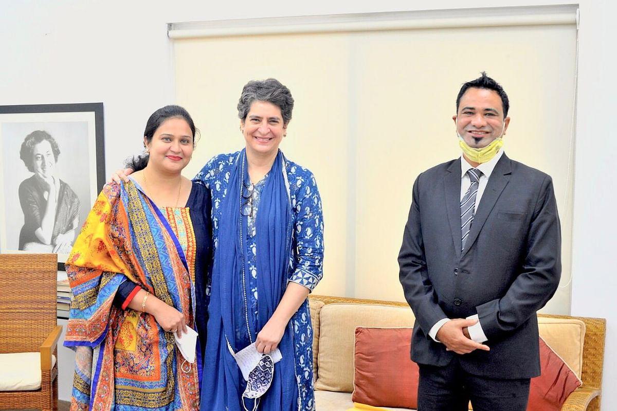 Dr Kafeel Khan calls on Congress general secretary Priyanka Gandhi