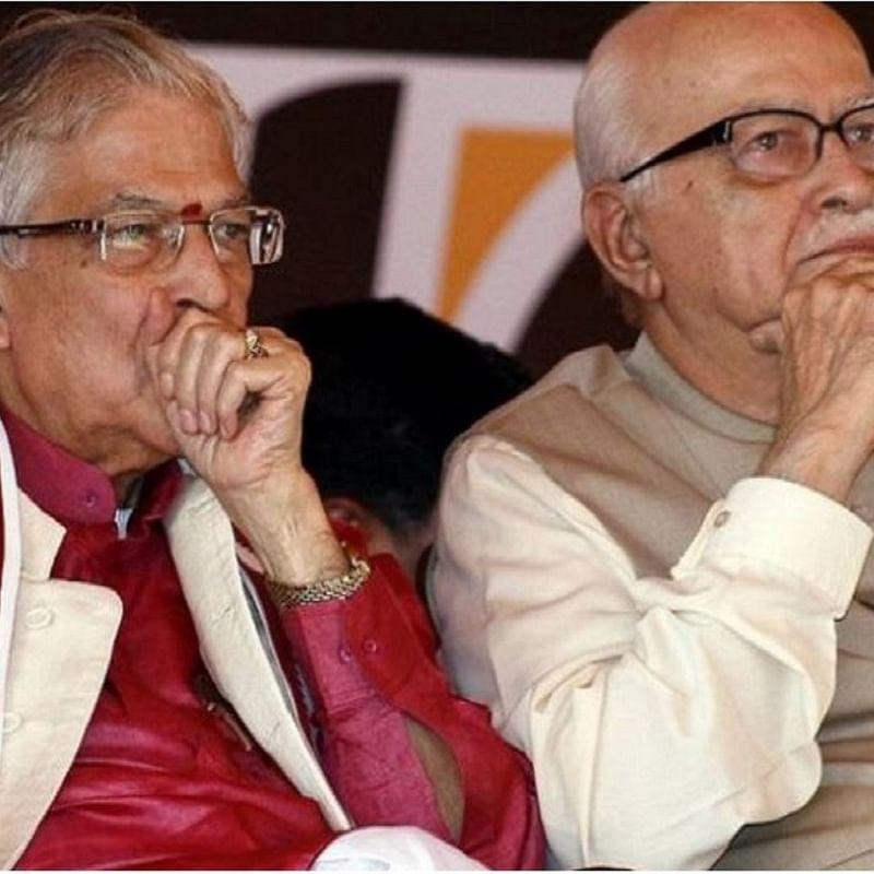 MM Joshi and LK Advani (Photo Courtesy: Social Media)