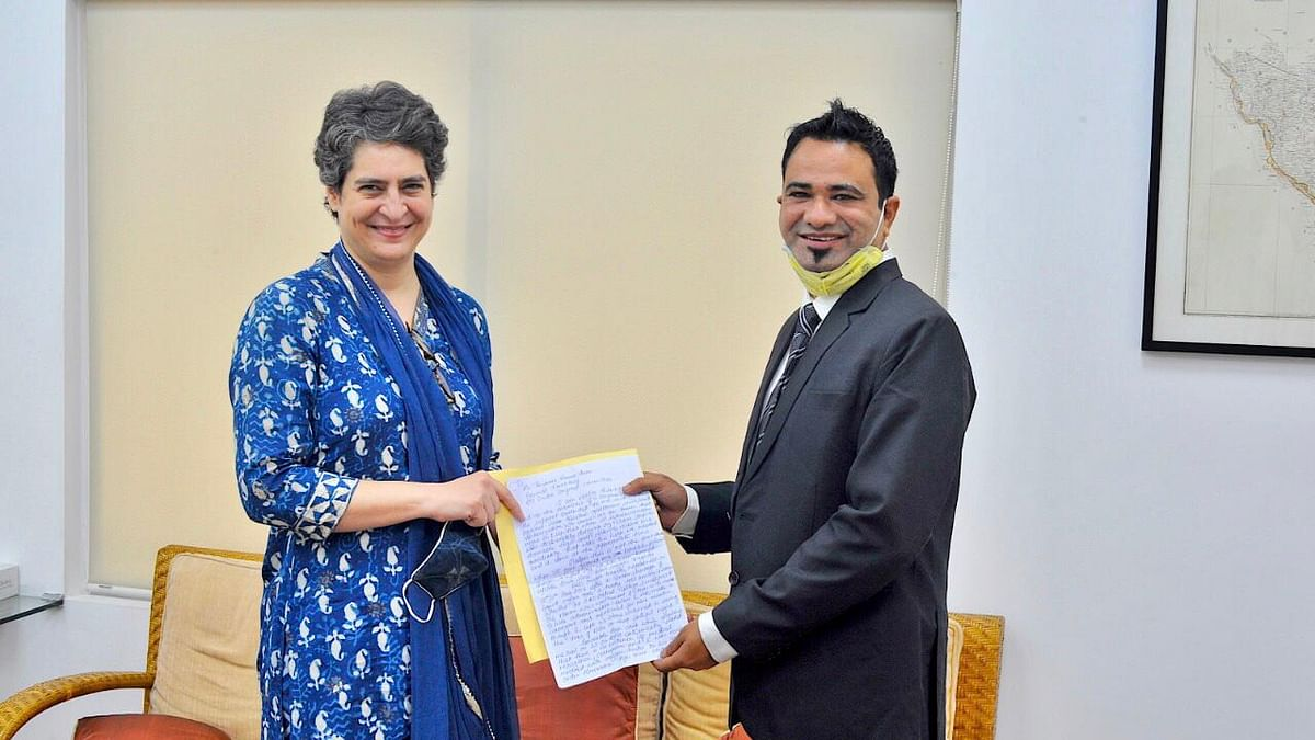 Dr Kafeel Khan calls on Congress general secretary Priyanka Gandhi