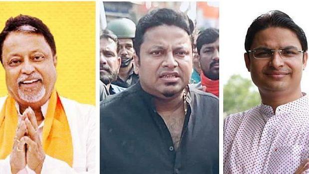 (From left) Mukul Roy, Anupam Hazra and Raju Bista (Photo courtesy: social media)