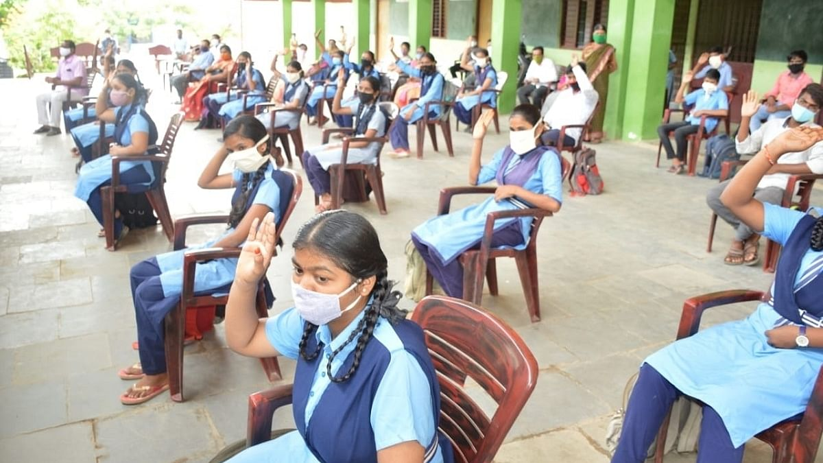 Students have choice between regular, online classes as schools reopen in Andhra Pradesh on Monday