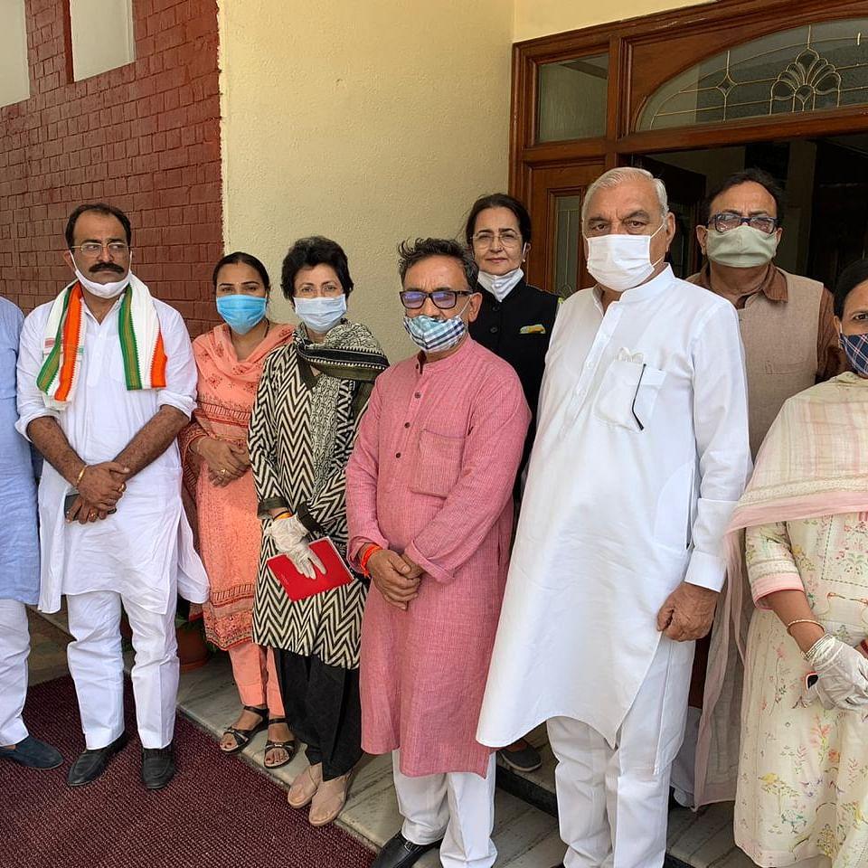 Haryana Congress leaders (Photo courtesy: Twitter)