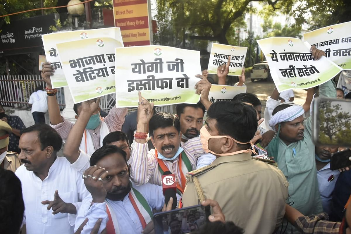 From Delhi to Lucknow, Congress holds protests following death of Hathras gang rape victim