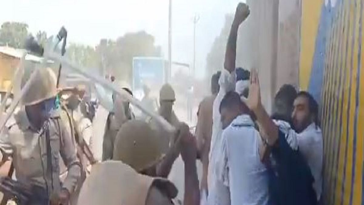 UP Police lathicharge RLD leader and former MP Jayant Chaudhary in Hathras