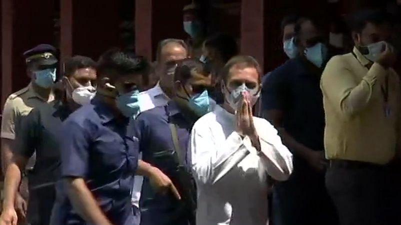 Rahul Gandhi attends COVID Review meeting at Malappuram