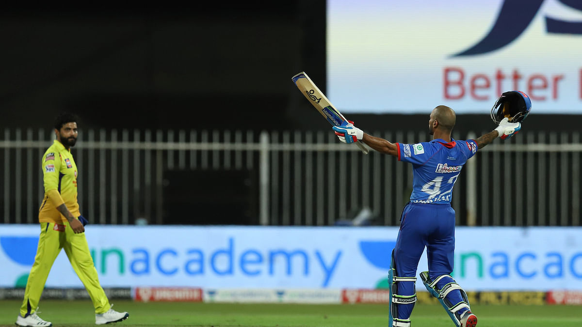 IPL 2020: Dhawan strikes maiden IPL hundred; DC go on top of table with 5-wicket win over CSK