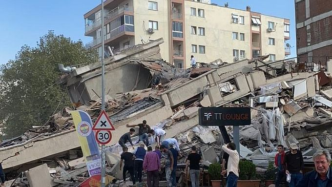 Strong Aegean Sea earthquake causes havoc, topples buildings in Turkey