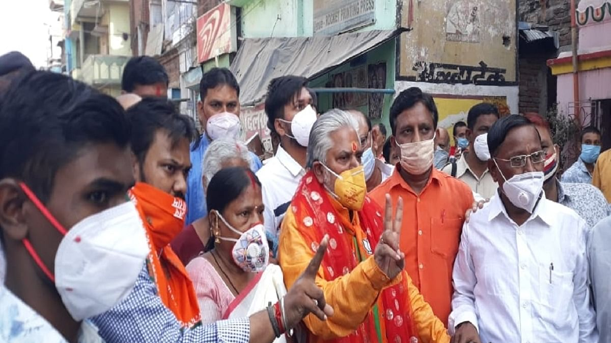 Bihar polls: Returning Officer to file FIR against Prem Kumar, minister clarifies why he wore lotus-print mask