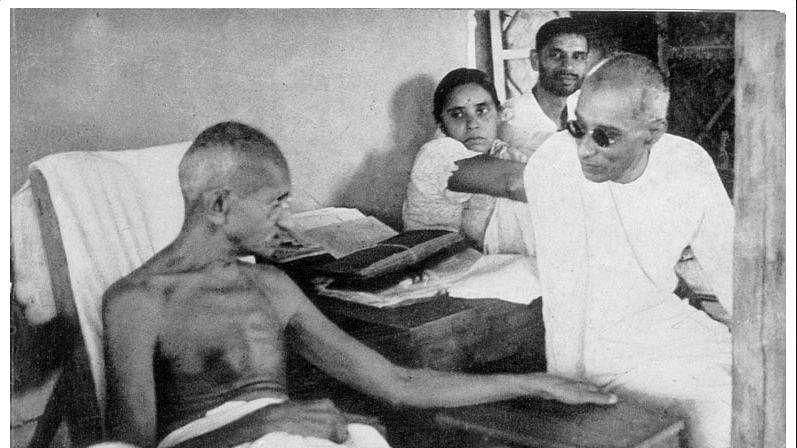 Sevagram, October 2, 2020: Nehru, Sardar & Mahadev Desai wait for Gandhi Ji to wakeup