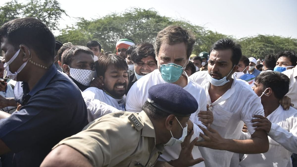 In Photos: How Rahul Gandhi was manhandled by UP Police