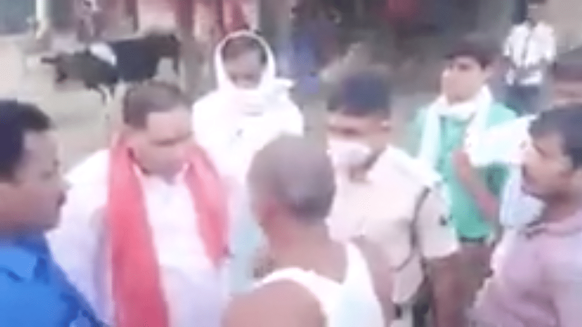 Bihar Election 2020: Minister Maheshwar Hazari heckled by locals in Samastipur, asked to go back