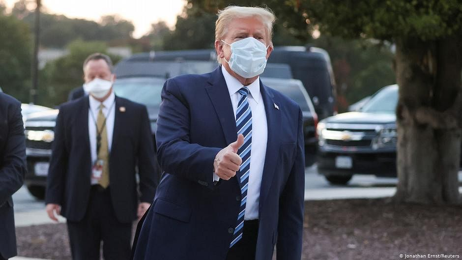 Getting coronavirus a blessing in disguise, says Donald Trump