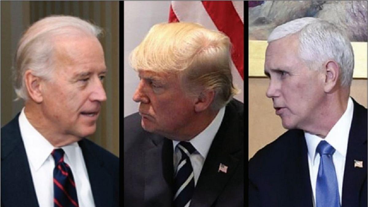 Joe Biden, Donald Trump and Mike Pence