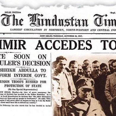 RSS, which tried to separate Jammu from Kashmir, is observing J & K's Accession today