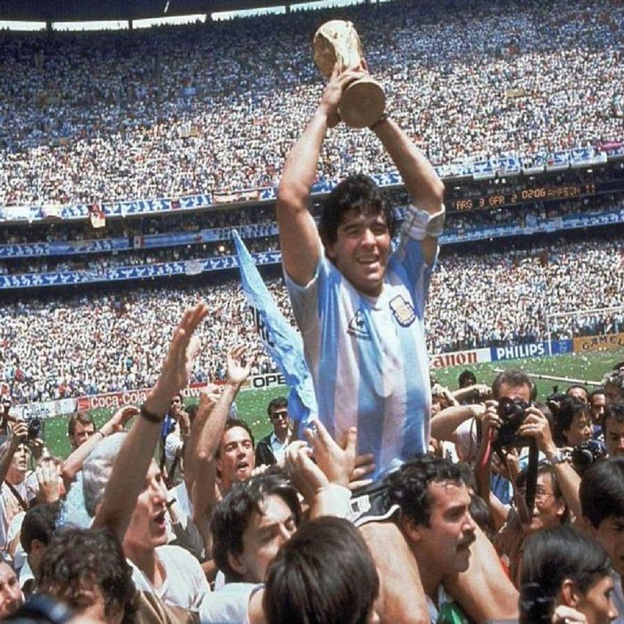 Diego Maradona (Photo Courtesy: Twitter/@MrNayeem15)