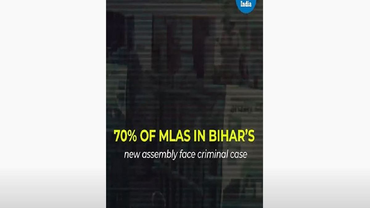 70% of MLAs in Bihar's new assembly face criminal cases