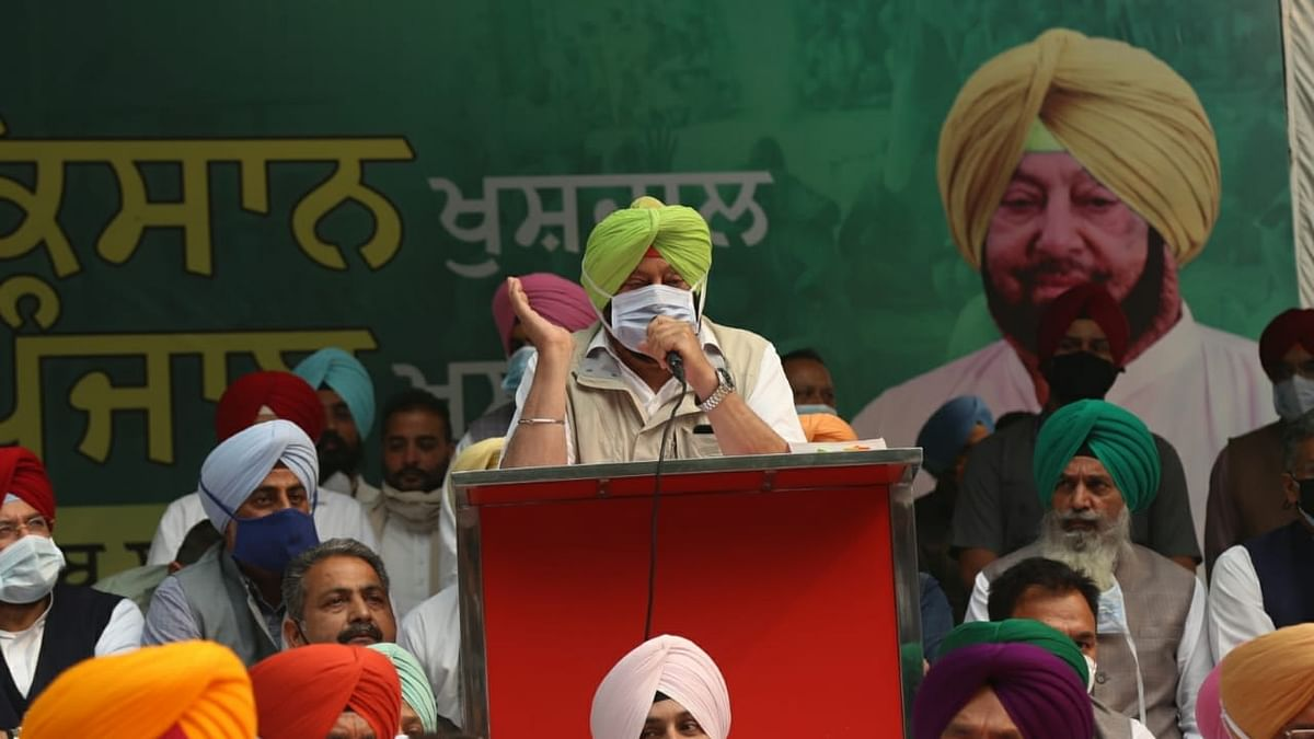 """""""I am fighting for poor farmers,"""" says Punjab CM Amarinder Singh at dharna in Delhi"""