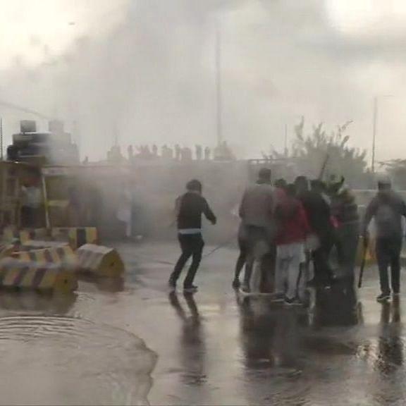Haryana Police uses water cannons, tear gas to disperse Punjab farmers at Shambhu border
