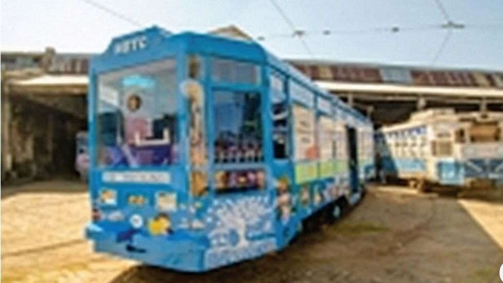 AC Tramcar for children in Kolkata: a library on wheels and free rides