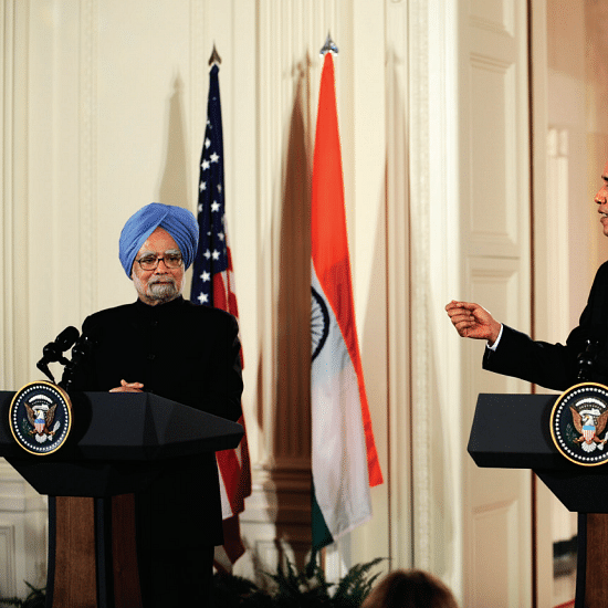 Both Obama and Dr Manmohan Singh could see dark clouds hovering over India way back in 2009