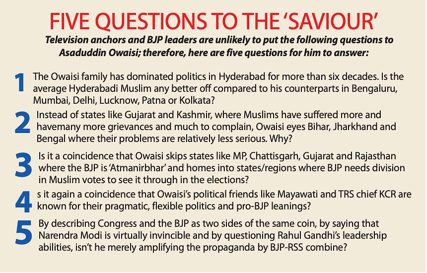 Five questions for Asaduddin Owaisi, BJP's nemesis, crusader or fellow traveller?