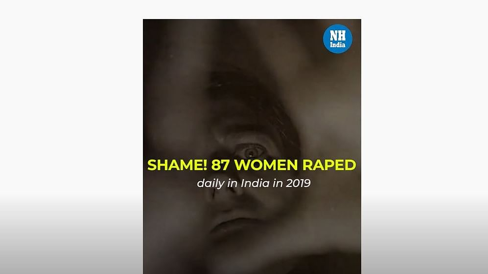 Shame! 87 women raped daily in India in 2019