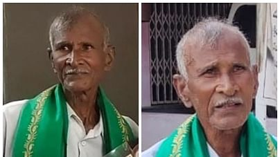 Model Andhra farmer Khandavu Prasada Rao returns honours protesting farm laws