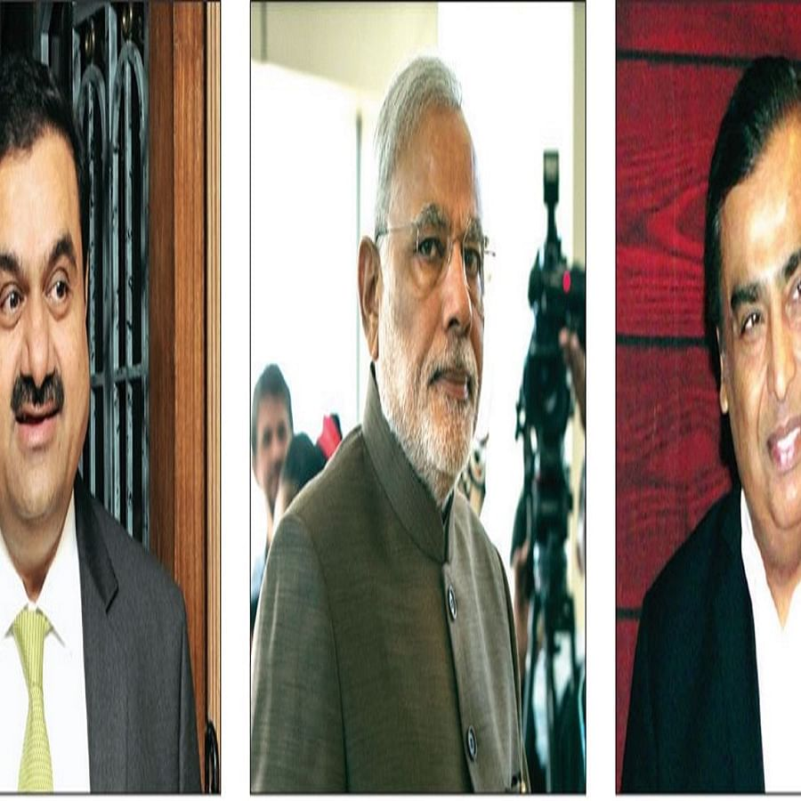 Mukesh Ambani's net worth last month was estimated by Forbes at $71. 5 billion (Rs 5.23 lakh crore). It estimated Gautam Adani's net worth this month at $28.7 billion (Rs 2.62 lakh crore)