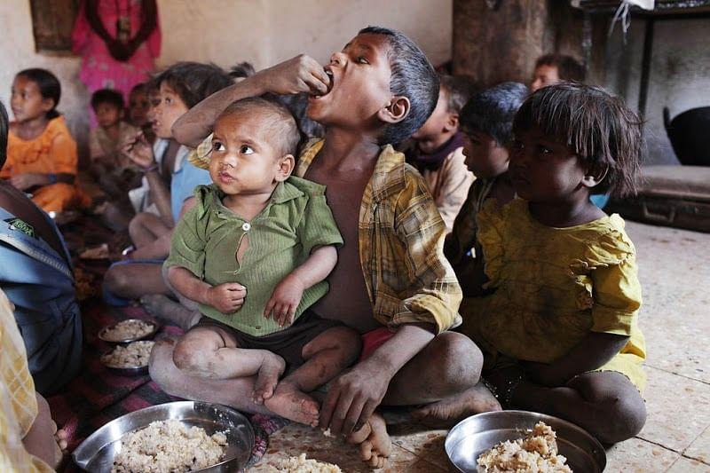 Malnourished Indian children (Photo Courtesy: Social Media/Youth Ki Awaaz)