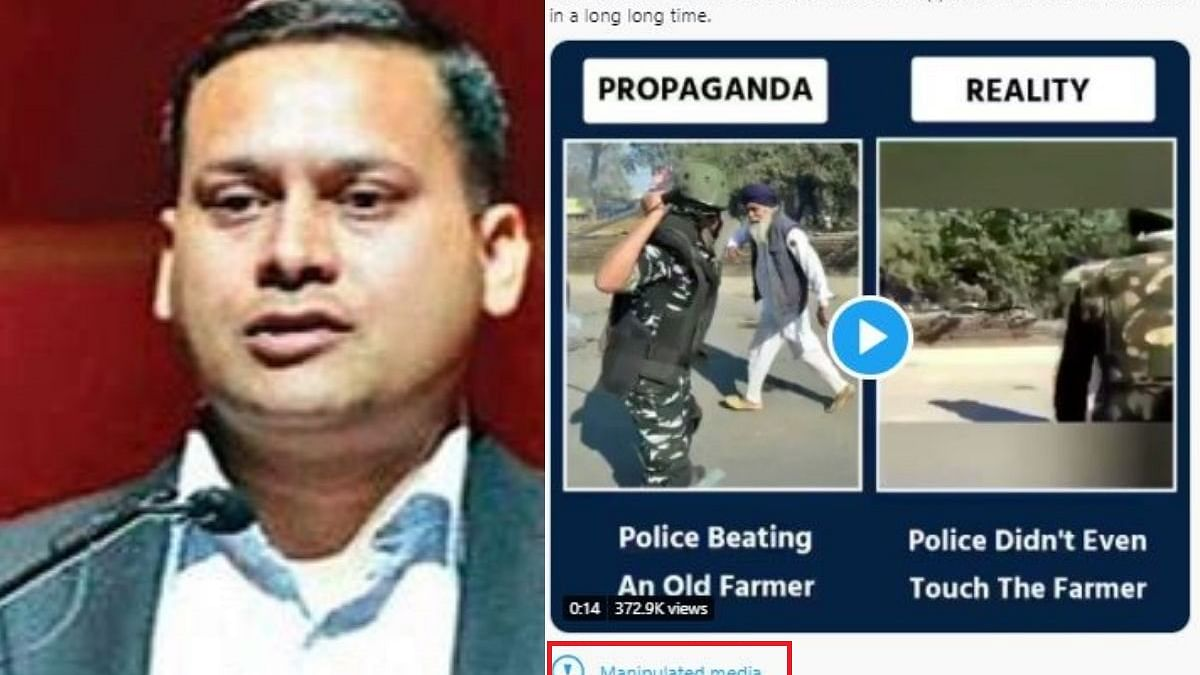 """BJP IT cell chief Amit Malviya's clip of farmer being baton charged labelled as """"manipulated media"""" by Twitter"""