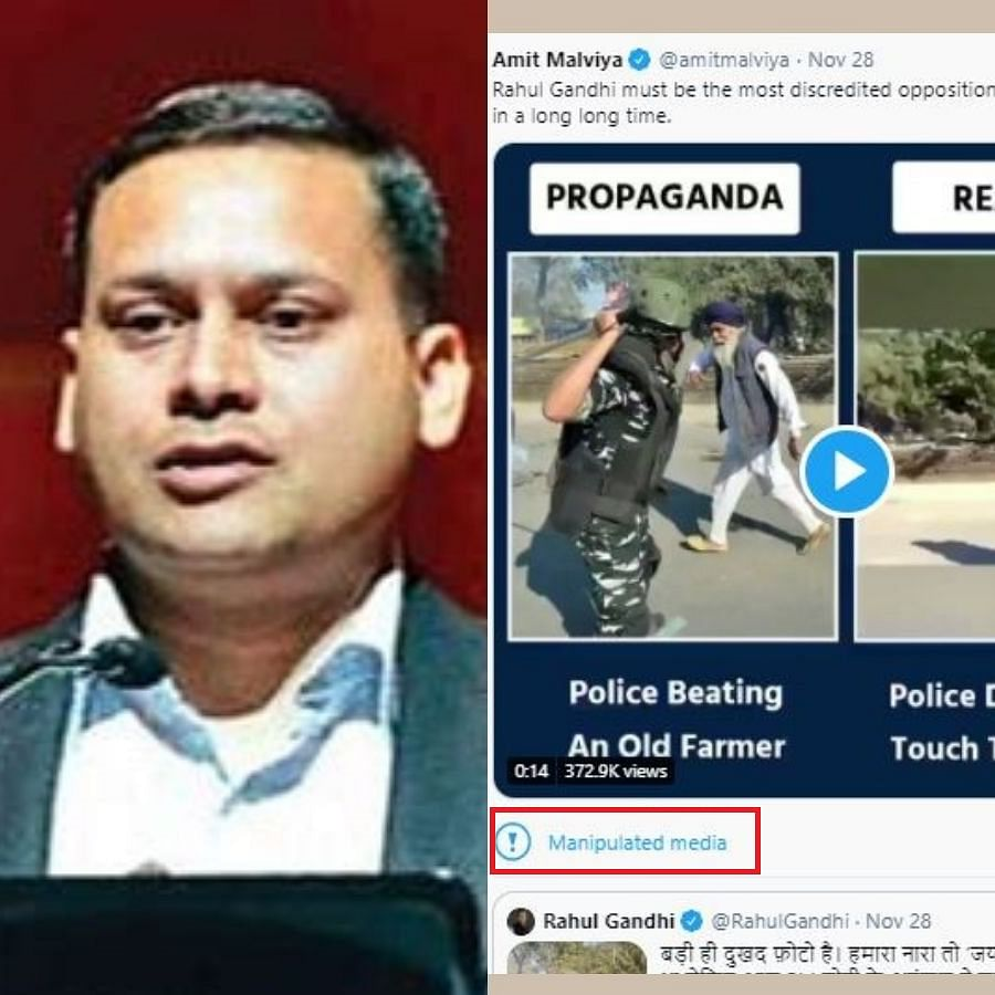 "BJP IT cell chief Amit Malviya's clip of farmer being baton charged labelled as ""manipulated media"" by Twitter"
