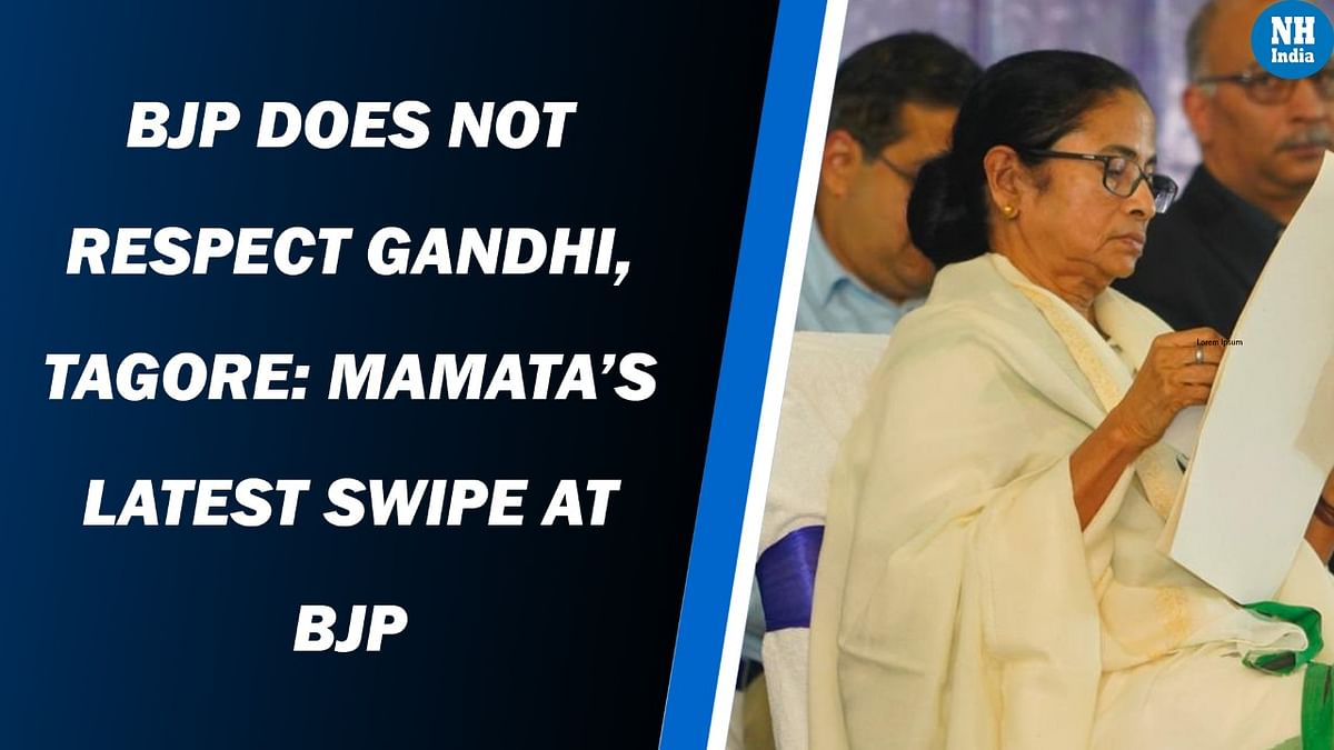 BJP does not respect Gandhi, Tagore: Mamata's latest swipe at BJP