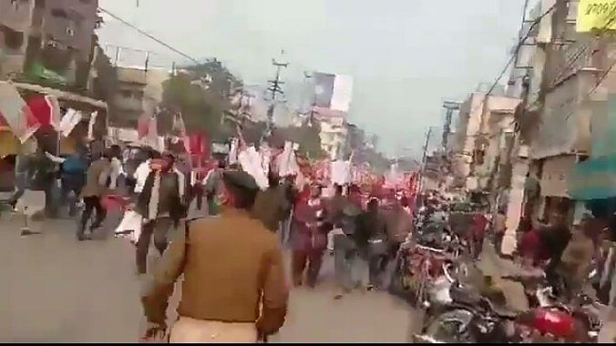 WATCH: Farmers' protest in Patna lathi charged by police, several injured